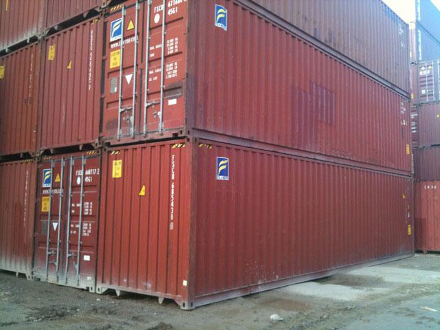 Contenedor Marítimo 40' High Cube Rojo