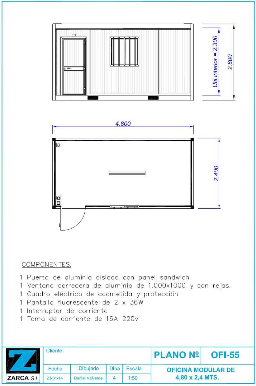 Caseta de obra ofi55 de ocasi n venta desde zarca for Casetas metalicas a medida