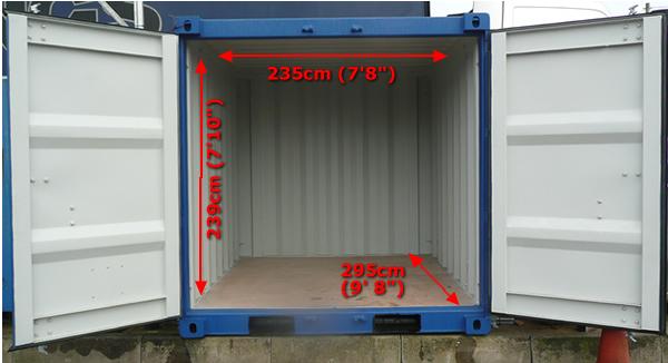 Dimensiones Contenedor Marítimo 10' Box