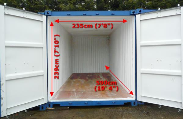 Dimensiones Contenedor Marítimo 20' Box
