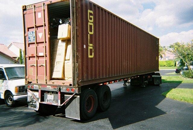 40' BOX sobre plataforma de camión