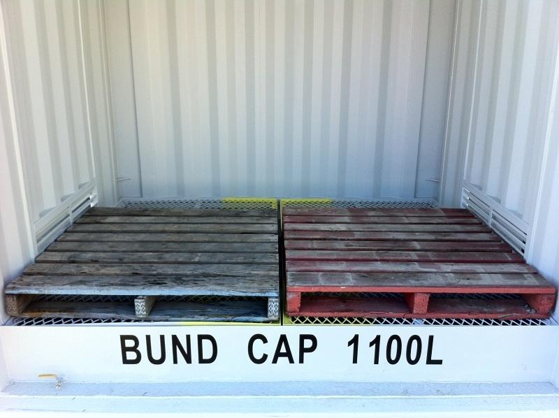 Detalle de anchura de 2 x pallets en un contenedor Pallet Wide