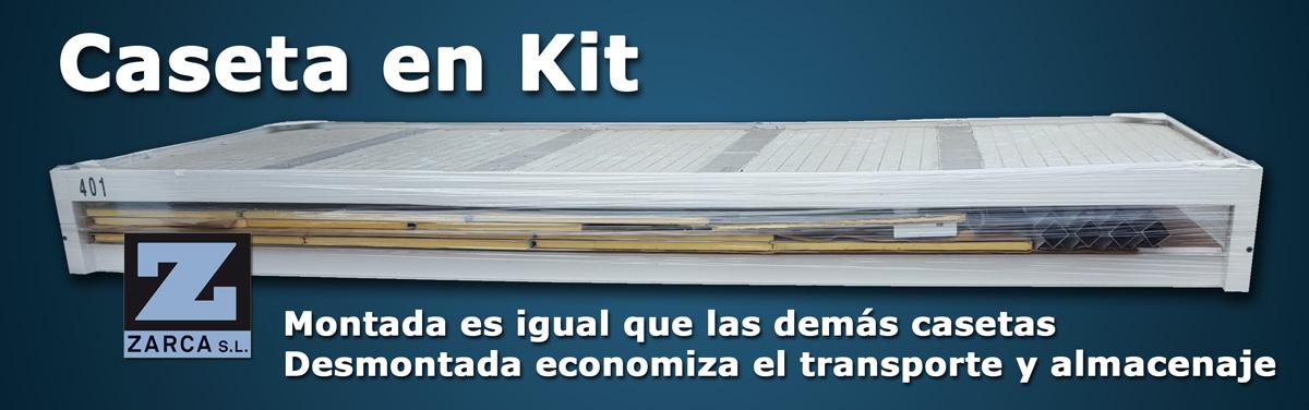 Anuncio caseta de obra en kit