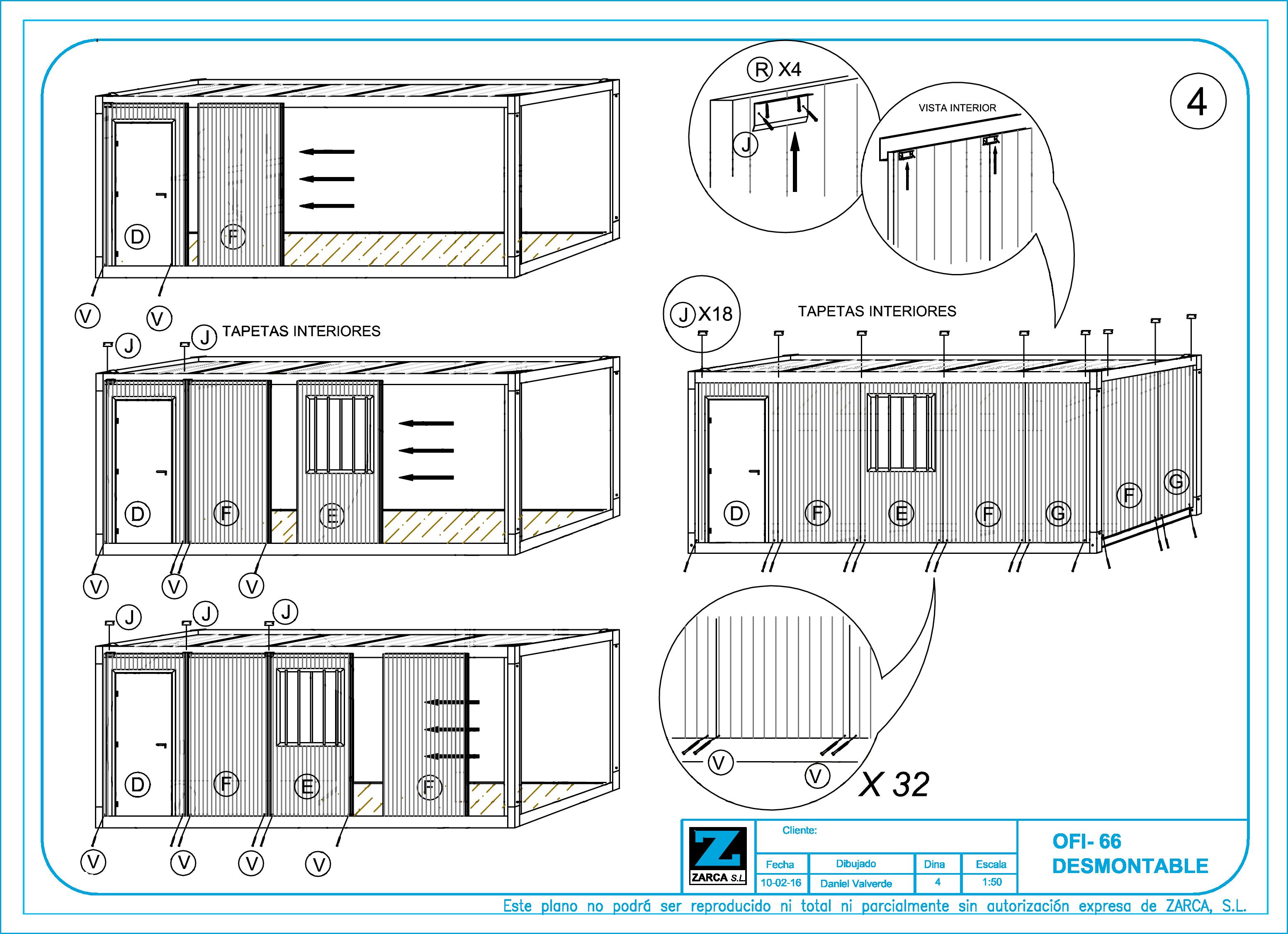 Caseta de Obra en Kit - Montaje 4