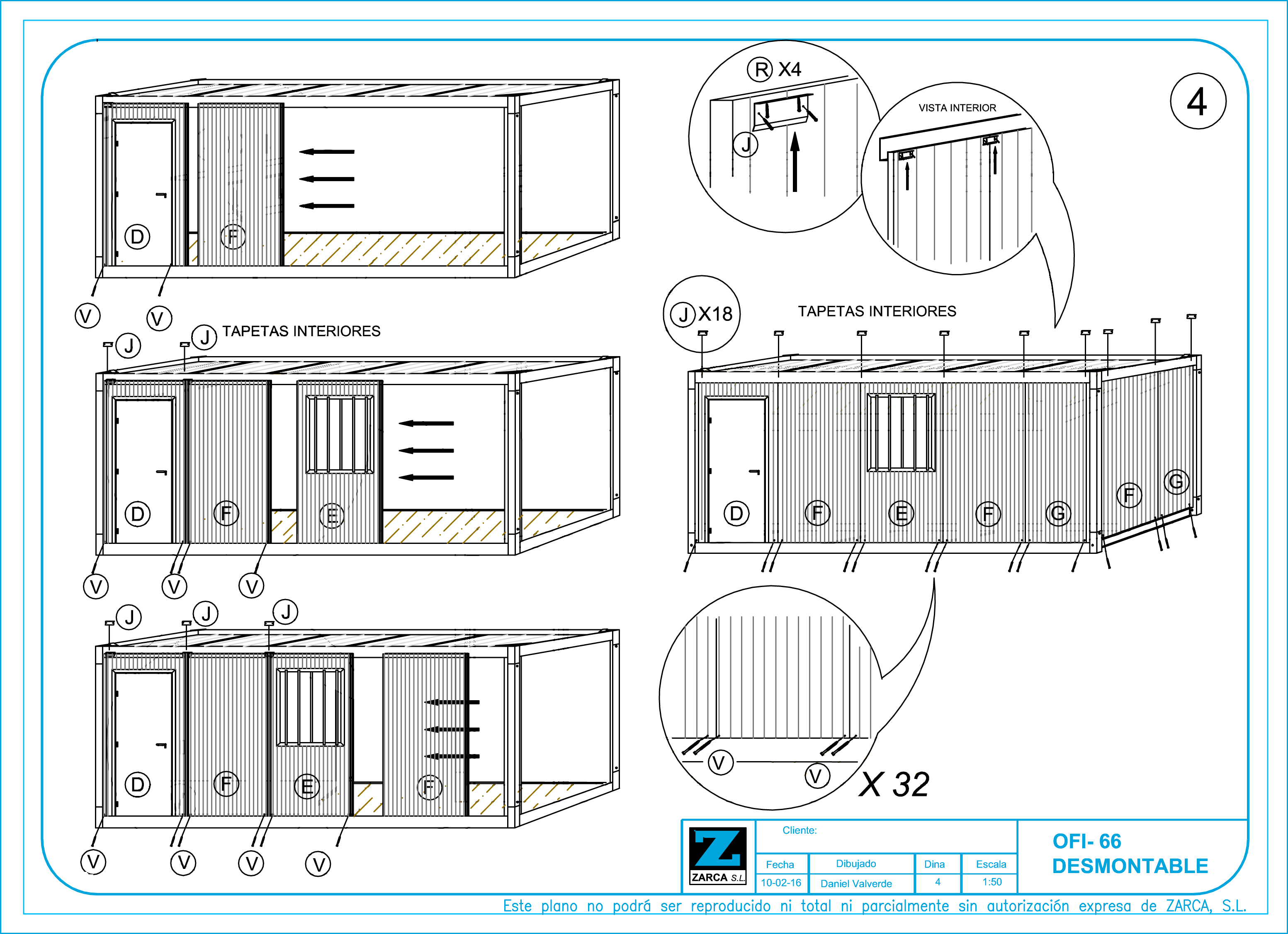 Casetas de obra en kit m dulos prefabricados for Caseta de chapa desmontable