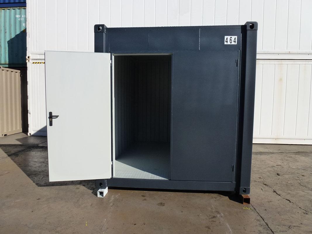 Contenedor almac n 10 39 puerta pivotante galvanizada for Puertas de chapa galvanizada