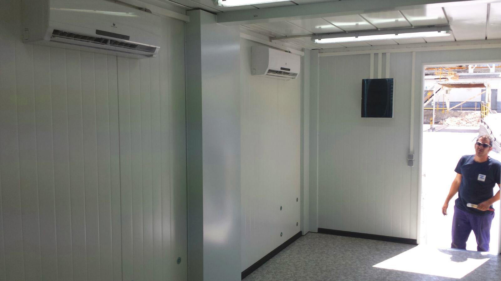 Conjunto Modular - Detalle A/A y cuadro eléctrico