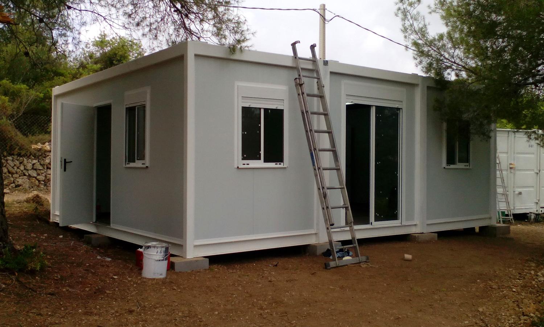 Casa prefabricada montada en campo zarca - Permisos para construir una casa ...