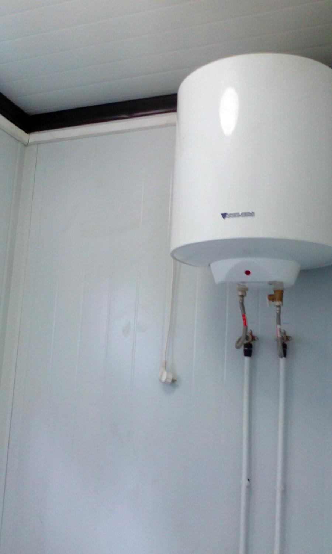 Conjunto modular - Detalle calentador de agua eléctrico