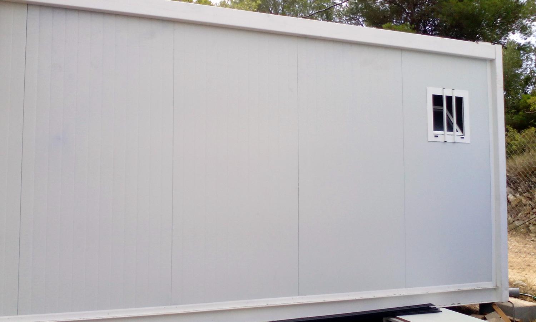 Conjunto modular - Detalle pared exterior con ventana