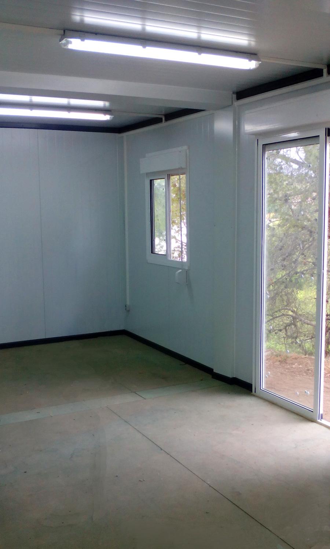 Conjunto modular- Vista interior todavía sin suelo