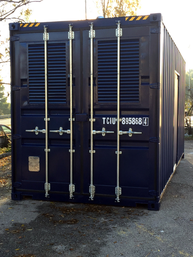 Contenedor 20'HC Modificado - Vista Exterior Puerta