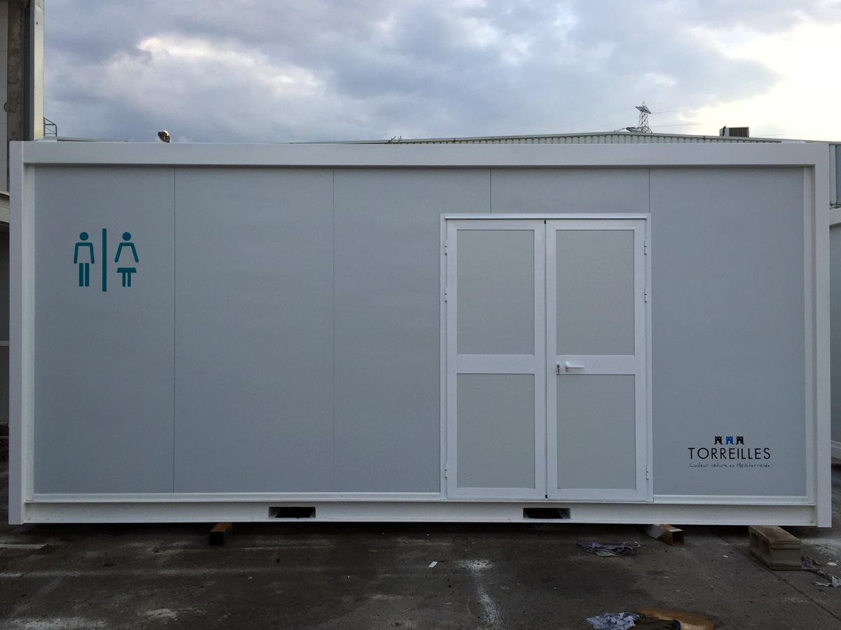 Módulo Sanitario WC playa - Vista exterior