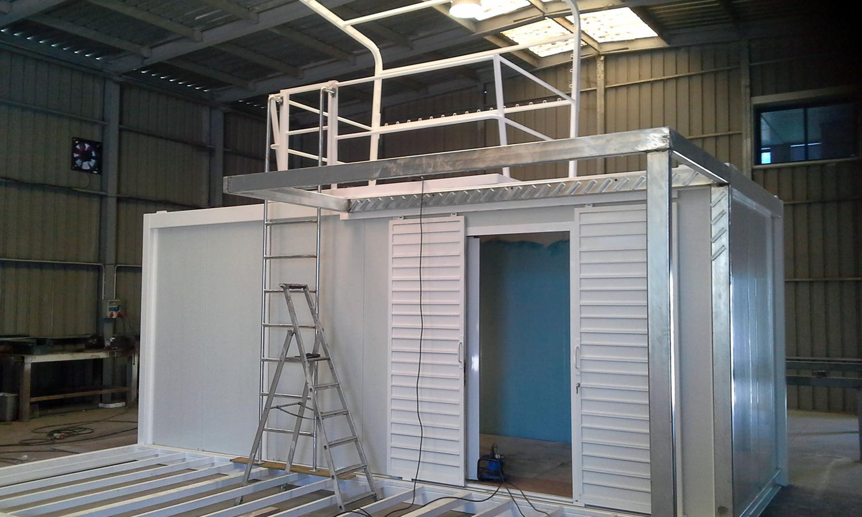 Módulo Vigilancia Socorristas - Detalle construcción galvanizado en caliente