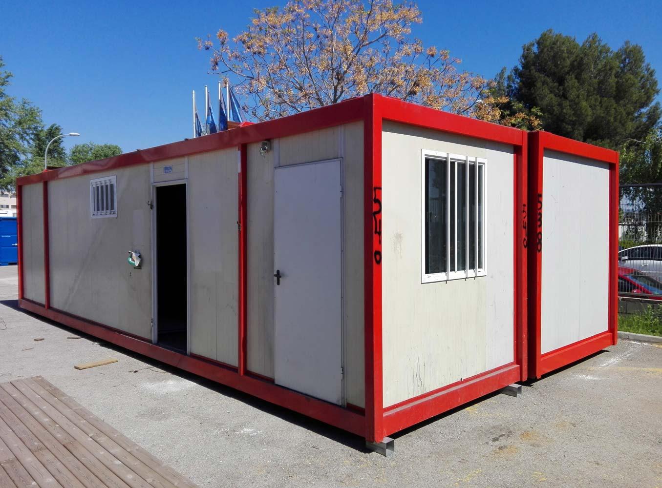 Conjunto modular oficina y vestuario zarca - Oficina de obra ...