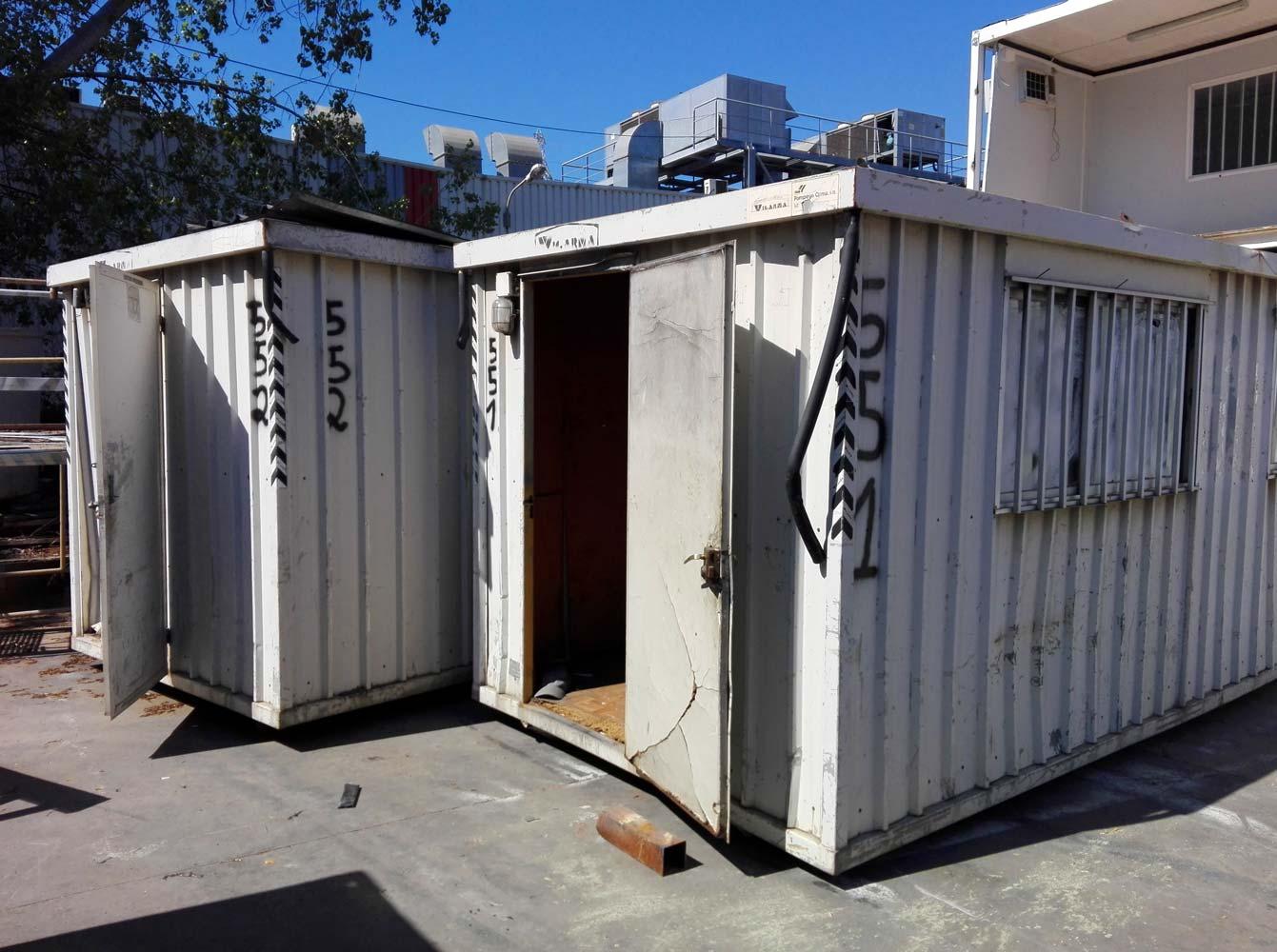 Contenedor oficina blanco sin rehabilitar venta desde - Contenedor maritimo segunda mano ...