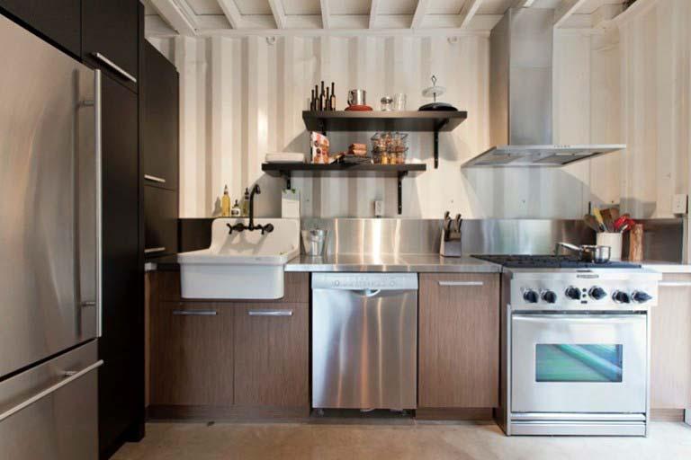 Casa lujosa contenedores marítimos - cocina