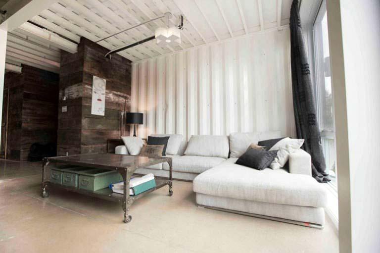 Casa lujosa contenedores marítimos - comedor