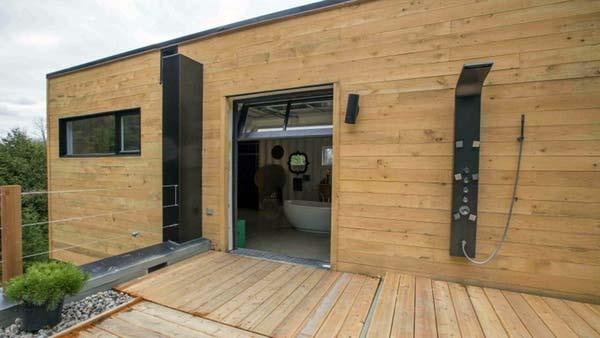 Casa lujosa contenedores marítimos - terraza superior