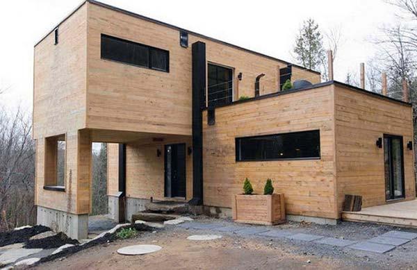 Casa lujosa contenedores marítimos - vista exterior