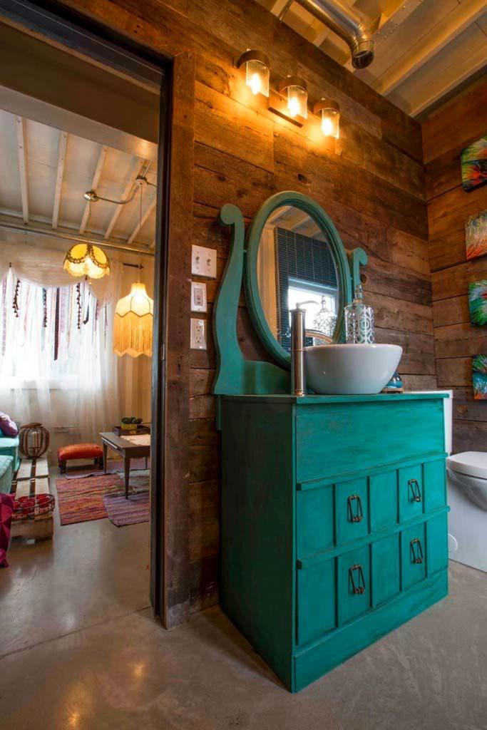 Casa lujosa contenedores marítimos - lavabo