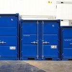 Comparación contenedores 10, 8 y 6 pies - Frontal