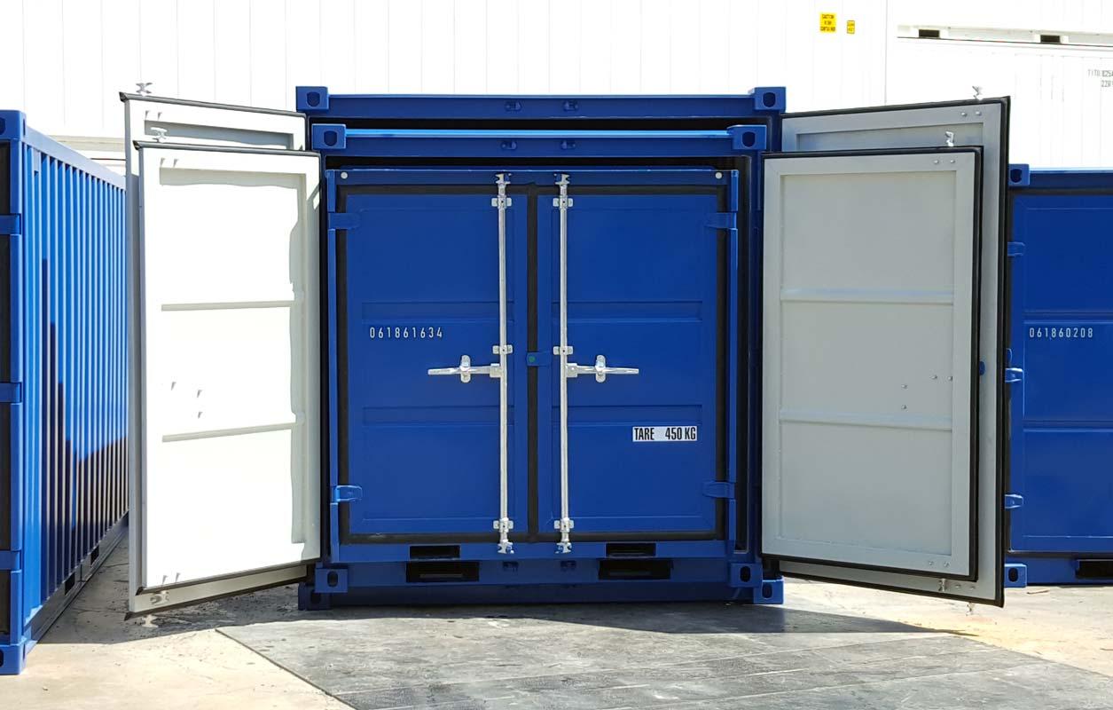 Comparación contenedores 6, 8 y 10 pies - Uno dentro de otro