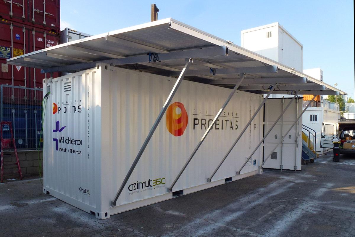 Contenedor Solar Autonomo - Vista Exterior