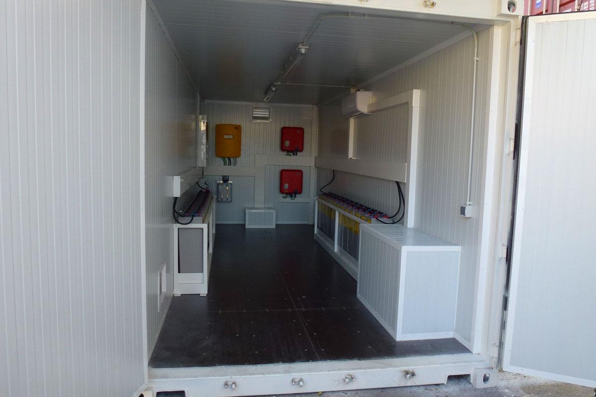 Contenedor Solar Autonomo - Vista Interior