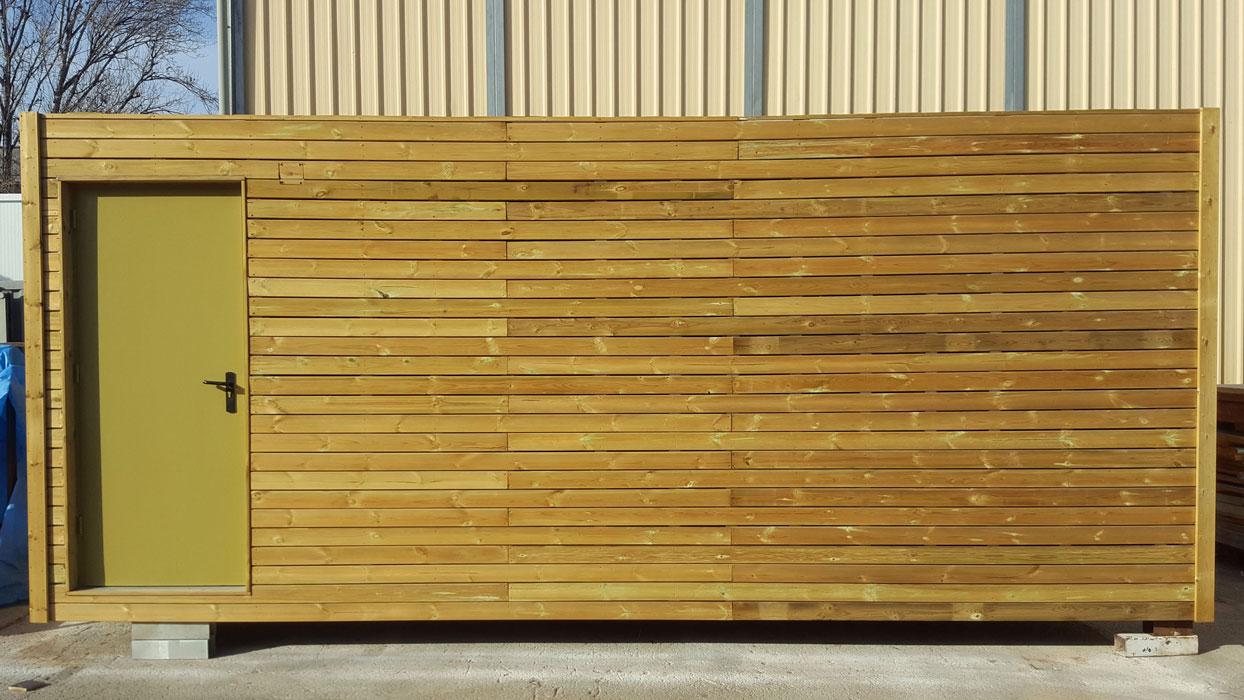 Módulo Prefabricado Vestuario Madera - Exterior 2