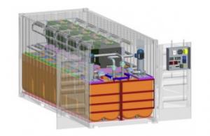 transformación contenedor para baterías de flujo