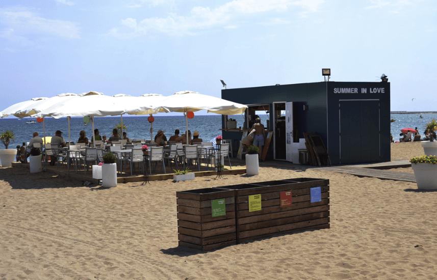 contenedor restauración playa