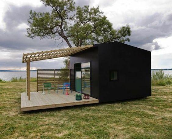 bungalow de camping en modulo prefabricado